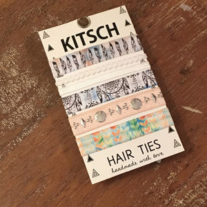 FREE GIFT WITH PURCHASE Boho Hair Tie 5 Pc Set